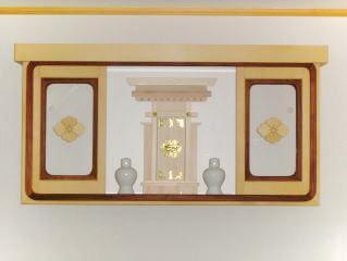 壁付け家紋付き神棚