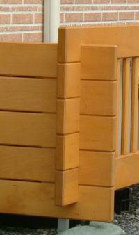 木製エアコン室外機カバー