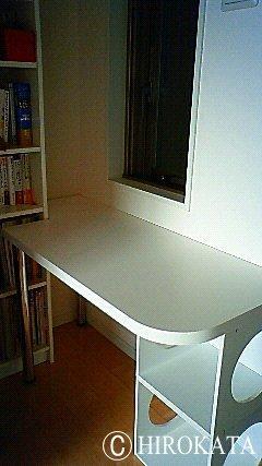カラーボックスに天板を置いてデスクや机を作る