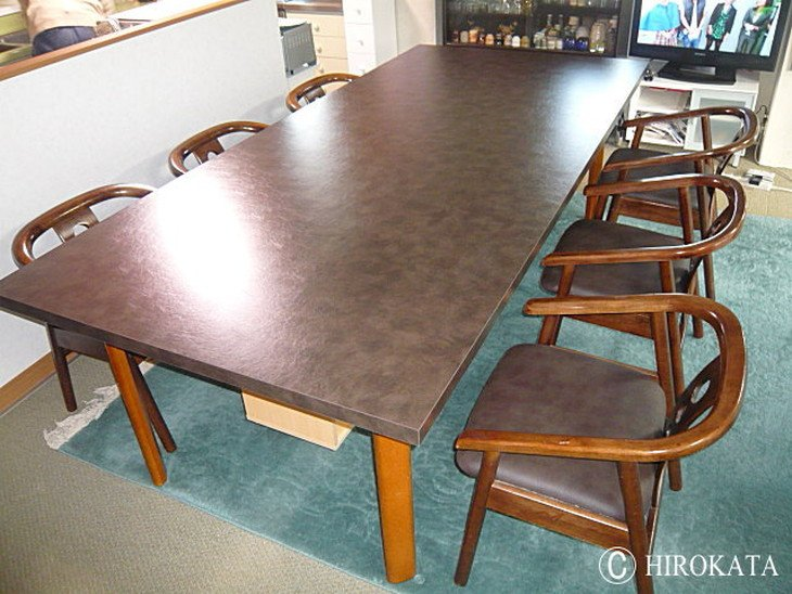 大型ダイニングテーブル天板のみ交換用