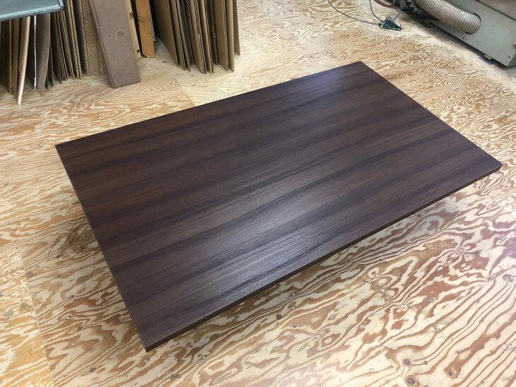 メラミン化粧板販売(アイカメラミン化粧板仕上げの天板加工通販)テーブル天板交換はオーダーメイドごおすすめ