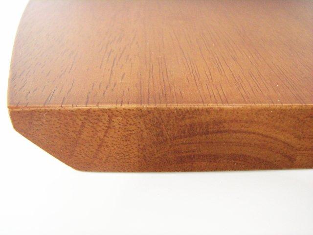 飾り棚用集成材カウンターテーブルの側面形状