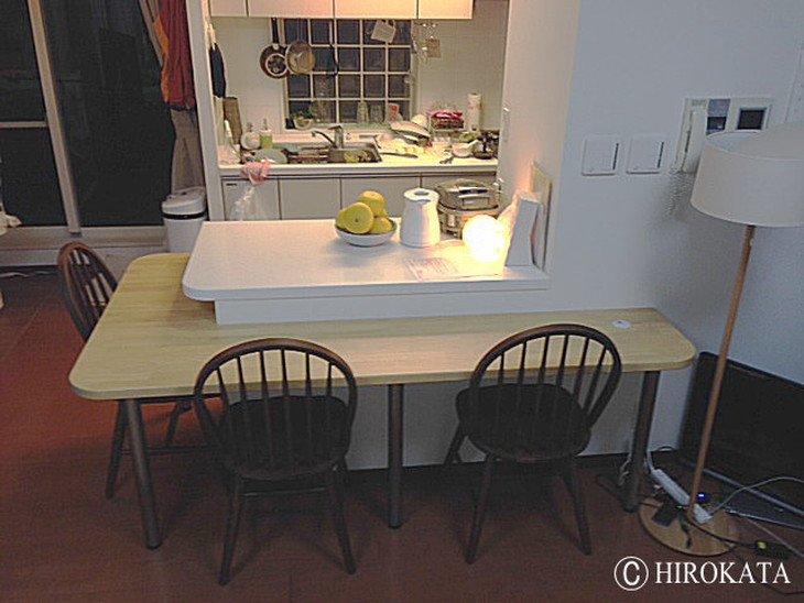 ダイニングキッチンカウンターテーブル天板
