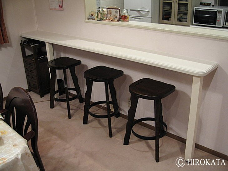 対面キッチンカウンター食卓テーブル天板