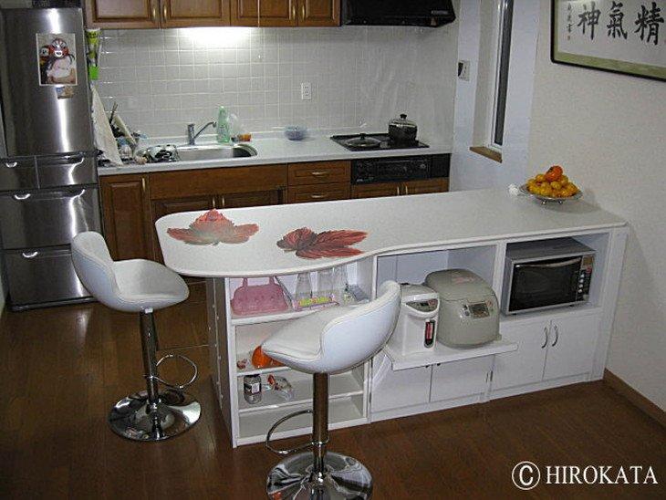 下部収納付きキッチンカウンター