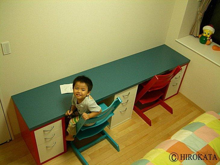 子供用勉強机天板のサイズオーダー