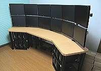 変形パソコンテーブルPCデスクのオーダーメイド