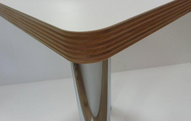 積層シナ共芯合板無塗装隅丸形状