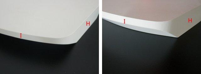 白色のカウンター天板