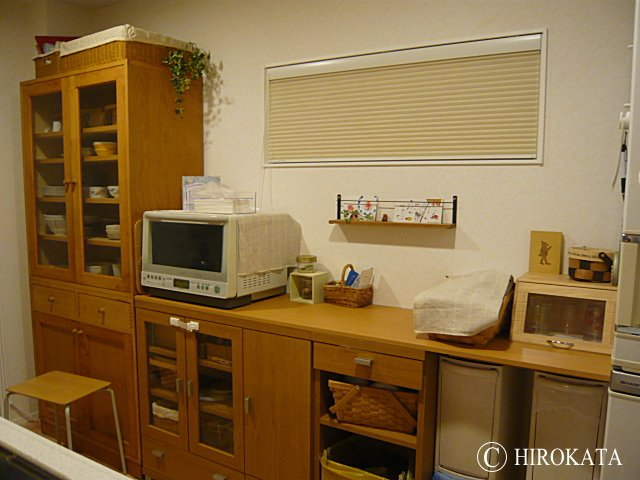 キッチン収納のカウンター