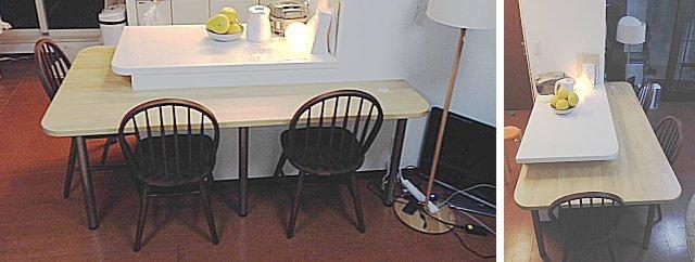 集成材仕様のキッチンテーブルカウンター