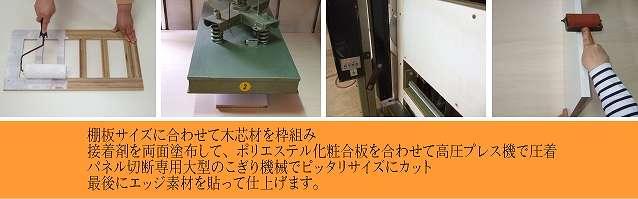 棚・棚板・パネル オーダーメード 製作方法