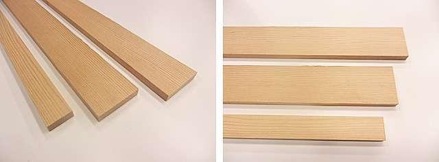 棚板の内部構造用天然木芯材
