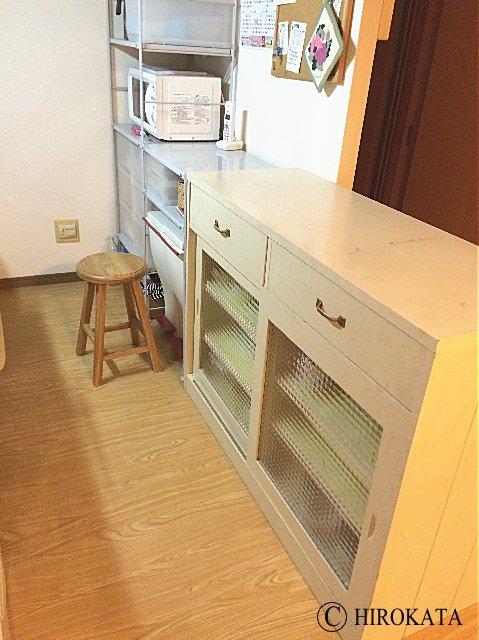 キッチン作業台の天板設置前