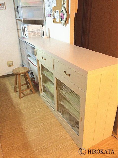 台所作業台天板の交換
