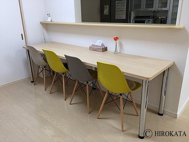 キッチン対面カウンターテーブル