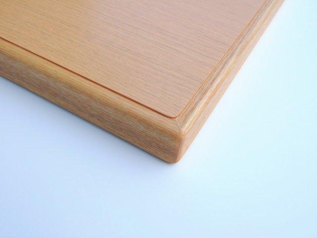 天板の木口処理はオーク材貼りつけ加工