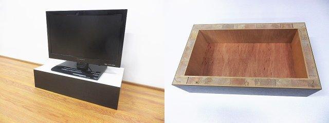 テレビ台のオーダーメイド、高さなどのサイズが自由に指定できる。