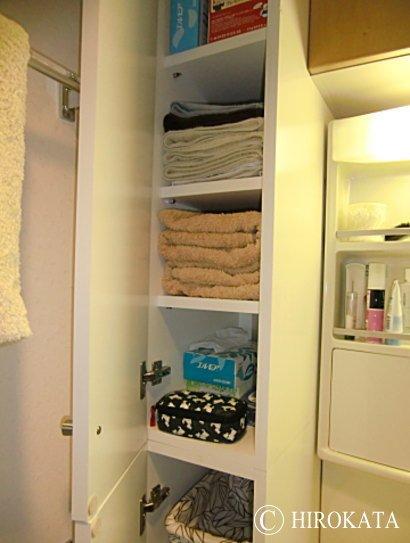 洗面所タオル棚の増設