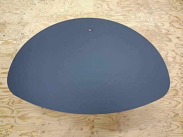 小判型ミーティングテーブル天板 アイカメラミン化粧板仕上げTK-6400K黒