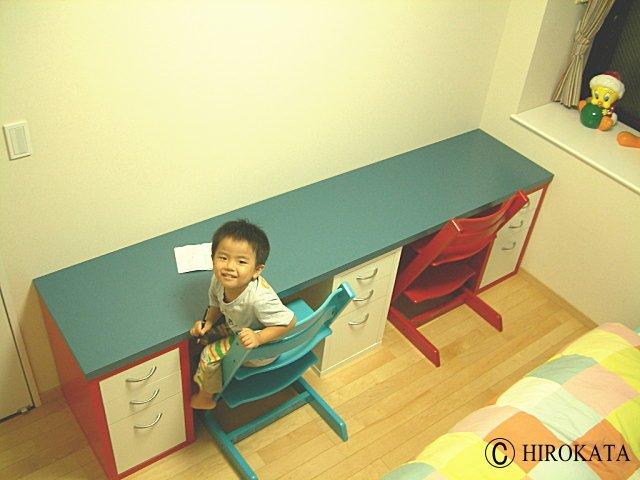 カラーボックスで学習机DIY専用デスク天板