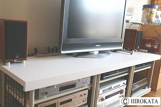 カラーボックスでTV台をDIY簡単机作り用天板