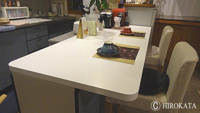 食卓ダイニングテーブルホワイト天板艶消し
