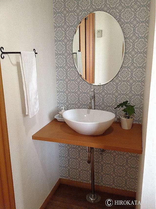 オーバーボウル洗面カウンターメラミン化粧板天板
