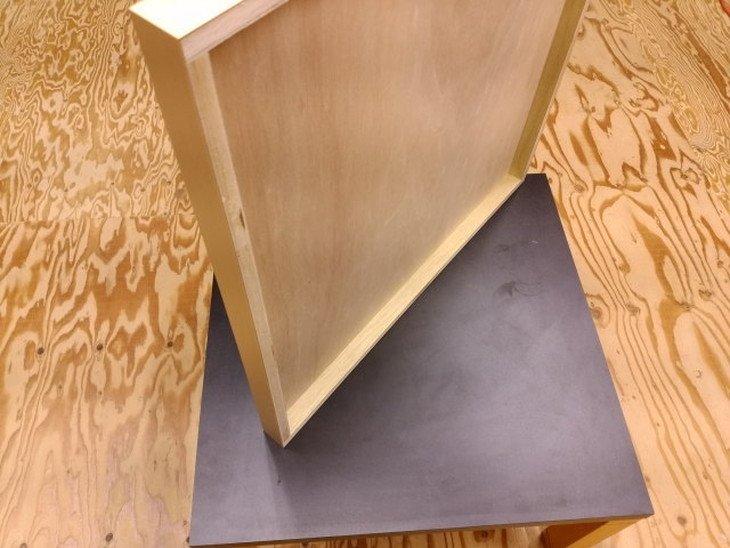 テーブルトップ天板リメイク用環境にやさしい素材のメラミン天板