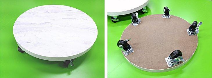 円形台車 載せる物のサイズに合わせてオーダーメイド