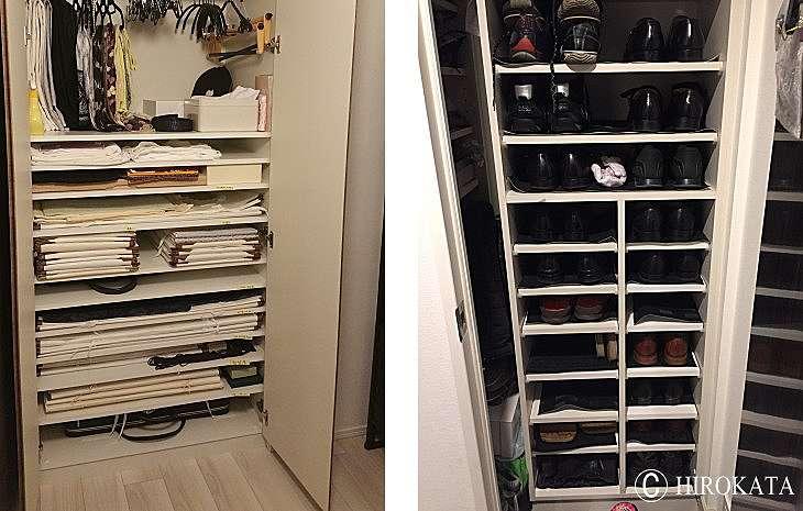 和服の着物収納家具や下駄箱の靴を載せる中棚を棚板オーダーで追加増設できます。