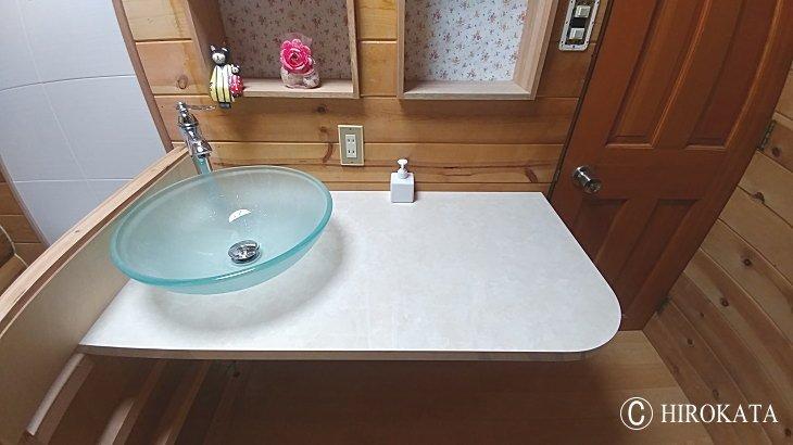 置き型・ベッセル型洗面ボウル用カウンター天板