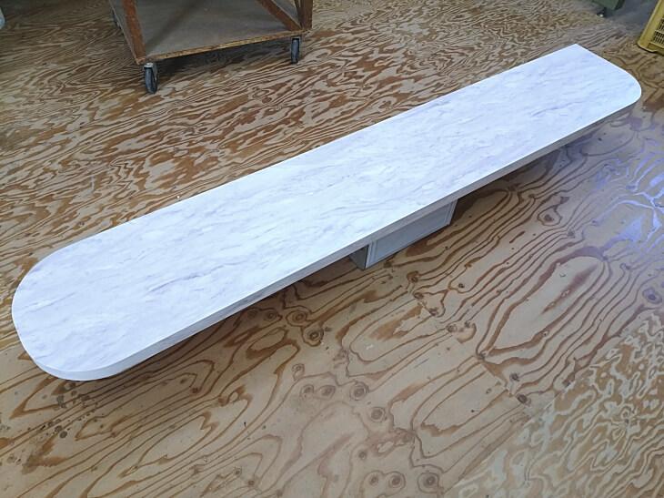 細長ダイニングテーブル天板