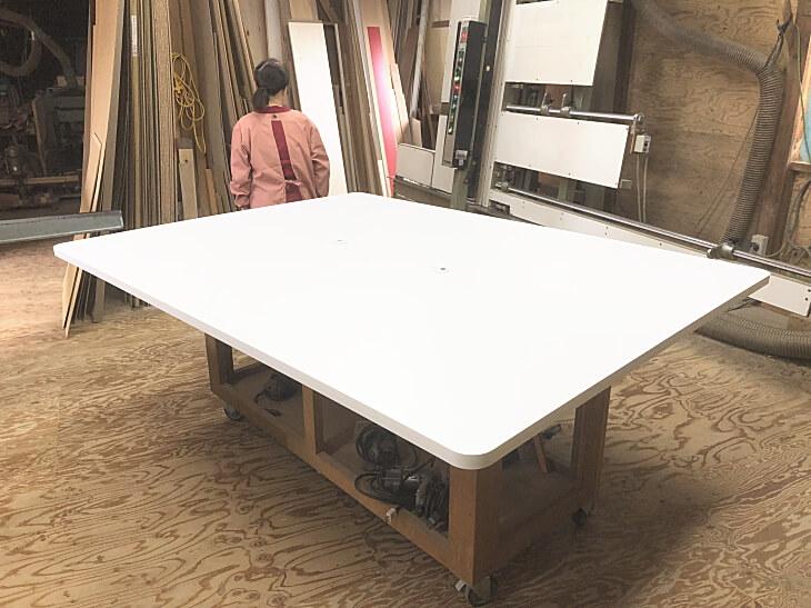 白 大型ダイニングテーブル