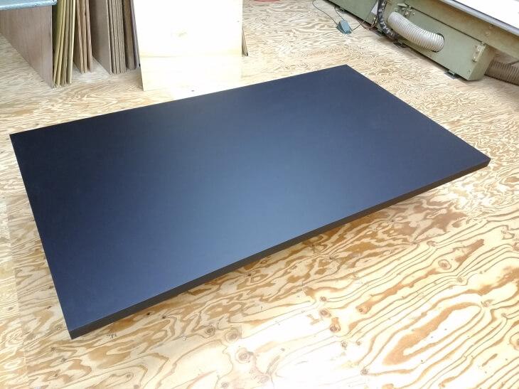 黒色ダイニングテーブル天板