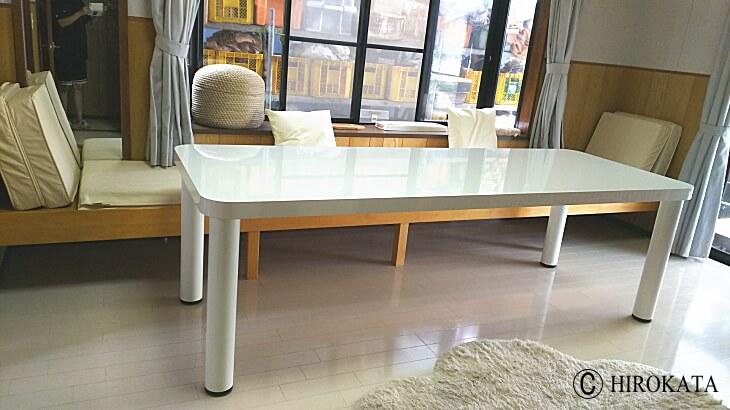 ダイニングテーブル 白 鏡面