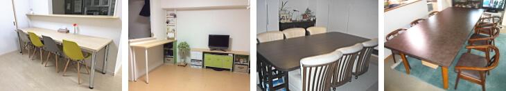 カウンターテーブル、ダイニングテーブル天板の製作事例写真