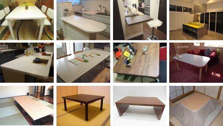 丈夫な天板素材で作るカウンターテーブル天板のオーダーメイド