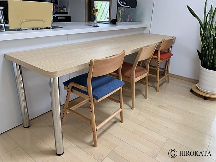 メラミン化粧板販売(アイカメラミン化粧板仕上げの天板加工通販)対面キッチンカウンターテーブル天板