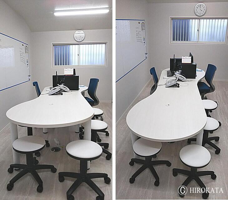 オフィス業務用デスク 白