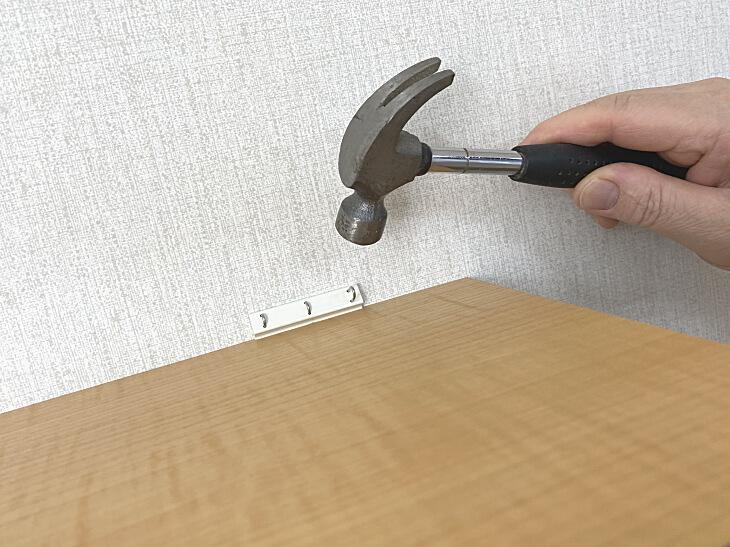 壁取り付け線用飾り棚 取り付け方法