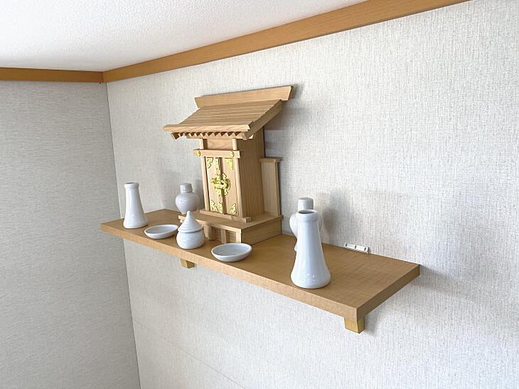 取り付け簡単な神棚の棚板