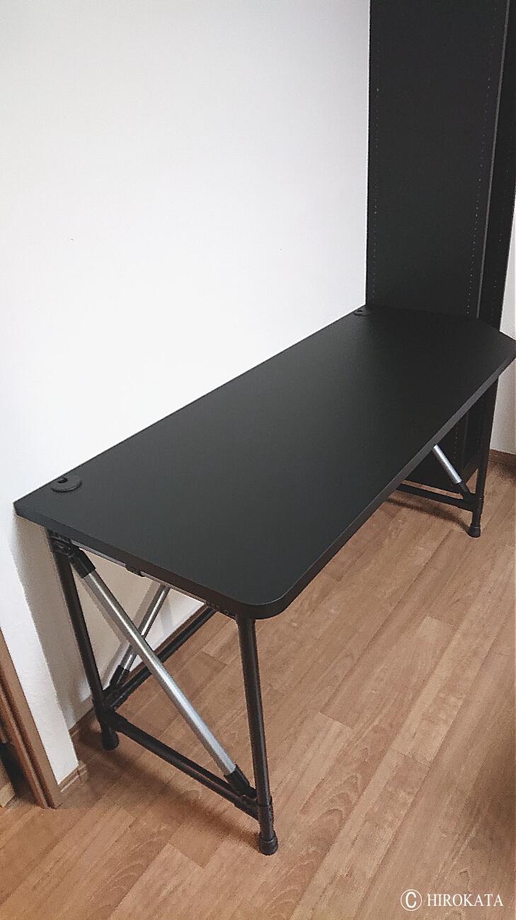 パソコンデスク天板はブラック