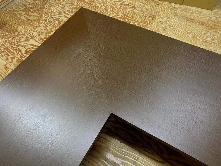 メラミン化粧板の継ぎ目斜め45度