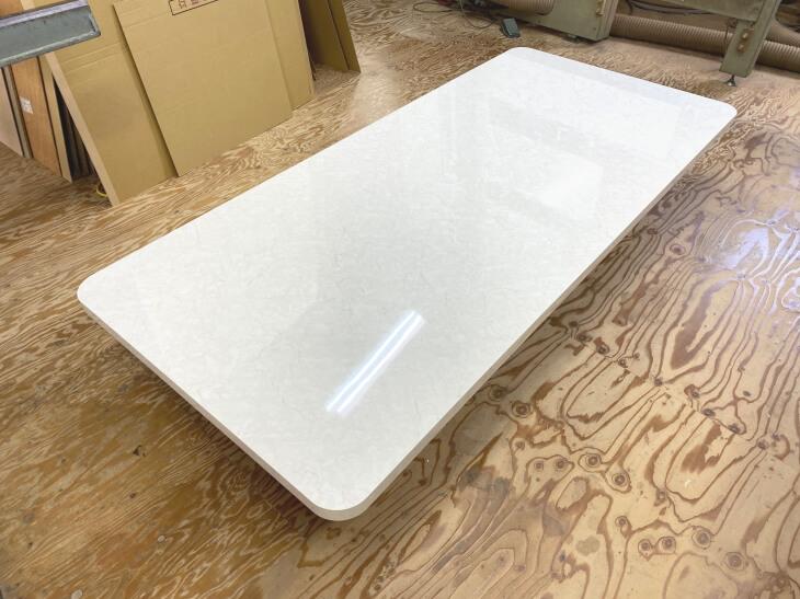 大理石風ダイニングテーブル