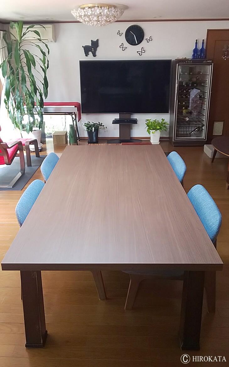 コタツ兼用リビングテーブル