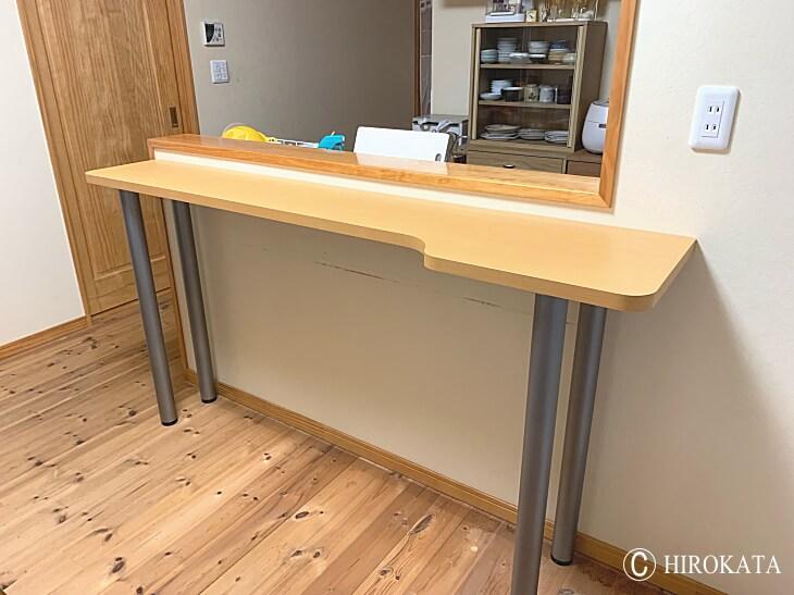 リビングキッチン対面カウンターテーブ