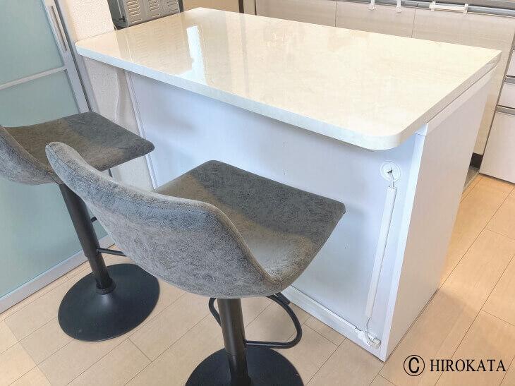 キッチンボード収納の上に載せる天板
