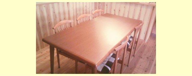 メラミン化粧板でDIY・既存テーブルの天板貼り替えリフォーム