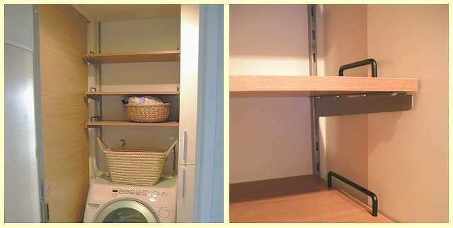 洗面所の壁面収納棚をDIYで新設